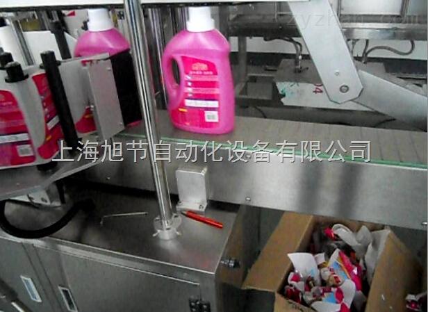 汽车防冻液塑料瓶双侧面贴标机 润滑油瓶双侧面贴标机