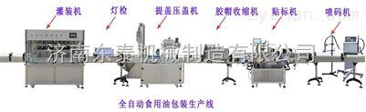 辽宁食用油灌装生产线 沈阳食用油灌装流水线 大厂家