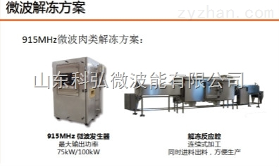 山东科弘生产微波肉制品解冻设备生产厂家