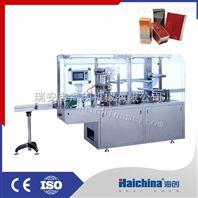 气动式全自动三维透明膜盒子包装机
