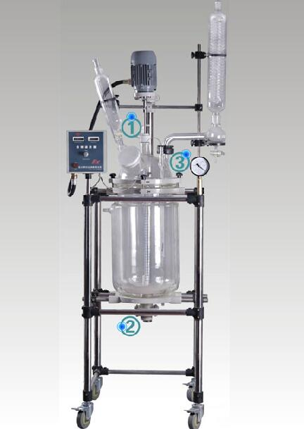 YSF-30L变频调速双层玻璃反应釜